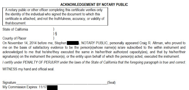 New CALIFORNIA Notary Acknowledgement and Jurat Forms